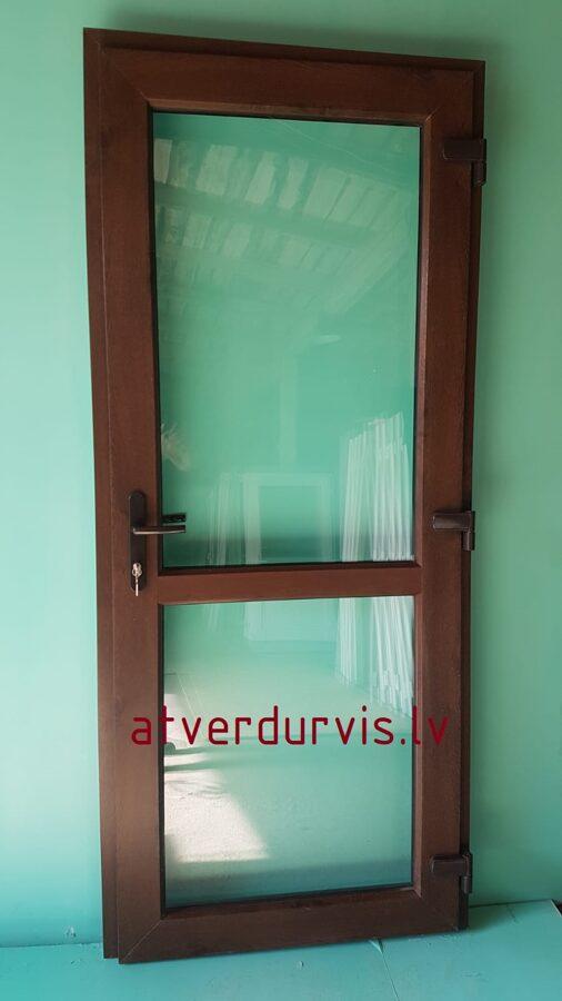 PVC durvis Rieksts ar dalījumu stikls/stikls
