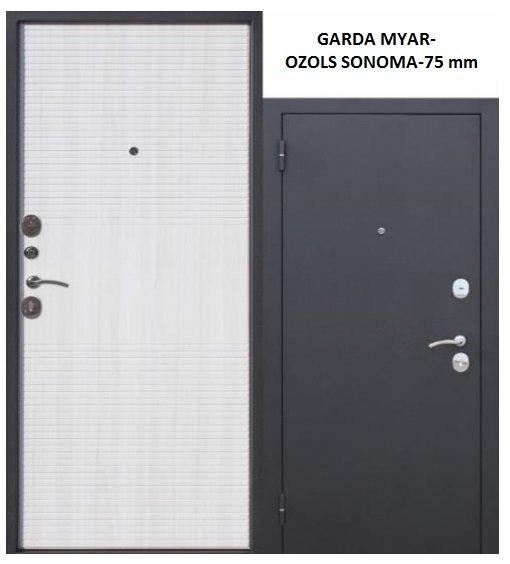 Metāla durvis GARDA MYAR 75 mm