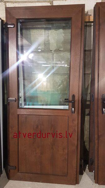PVC durvis Rieksts ar dalījumu stikls/pildiņš