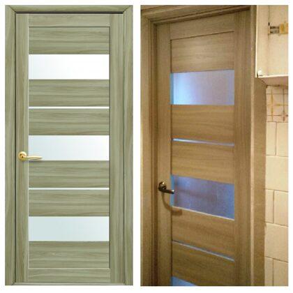 Iekšdurvis/starpistabu durvis ar stiklu.